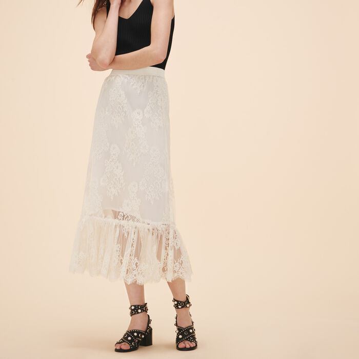 Long lace skirt -  - MAJE