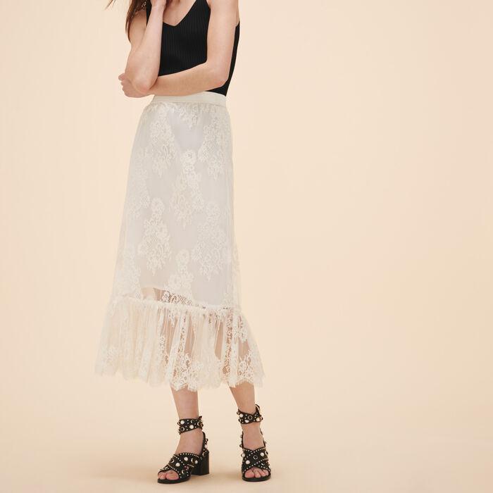 Long lace skirt - Skirts & Shorts - MAJE