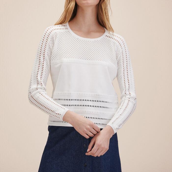 Openwork knit jumper - Knitwear - MAJE