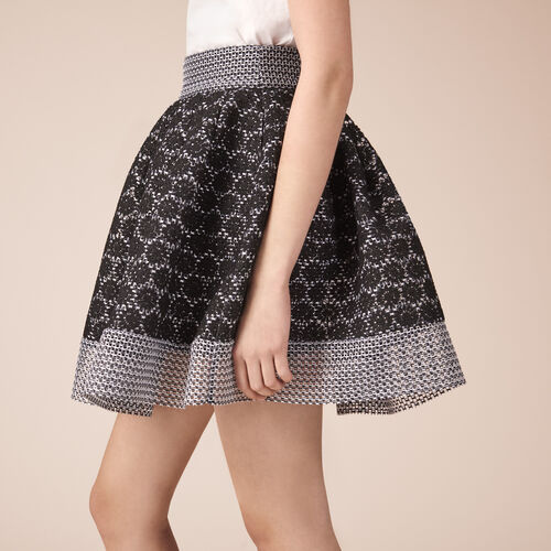 Basket lace skater skirt - Skirts & Shorts - MAJE