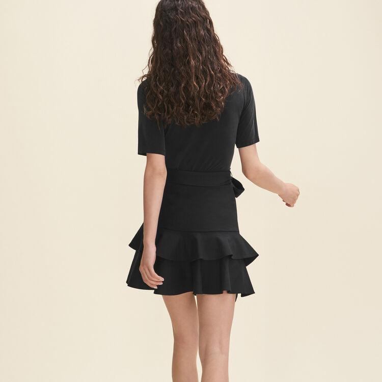 Short flounced skirt - Skirts & Shorts - MAJE