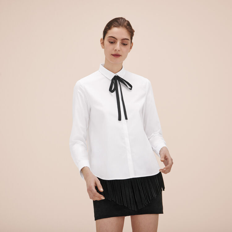 Cotton poplin shirt - Tops - MAJE