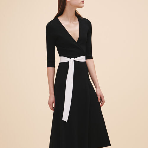 Long knitted dress - Dresses - MAJE