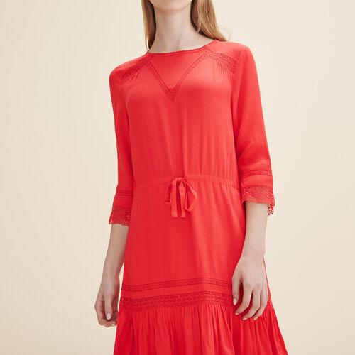 Vestido vaporoso con encaje - Vestidos - MAJE