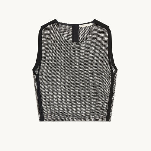 Jacquard crop top - Tops & T-Shirts - MAJE