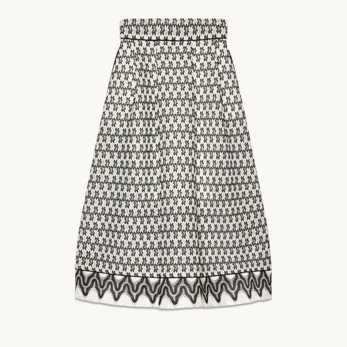 Lace midi skirt - Skirts & Shorts - MAJE