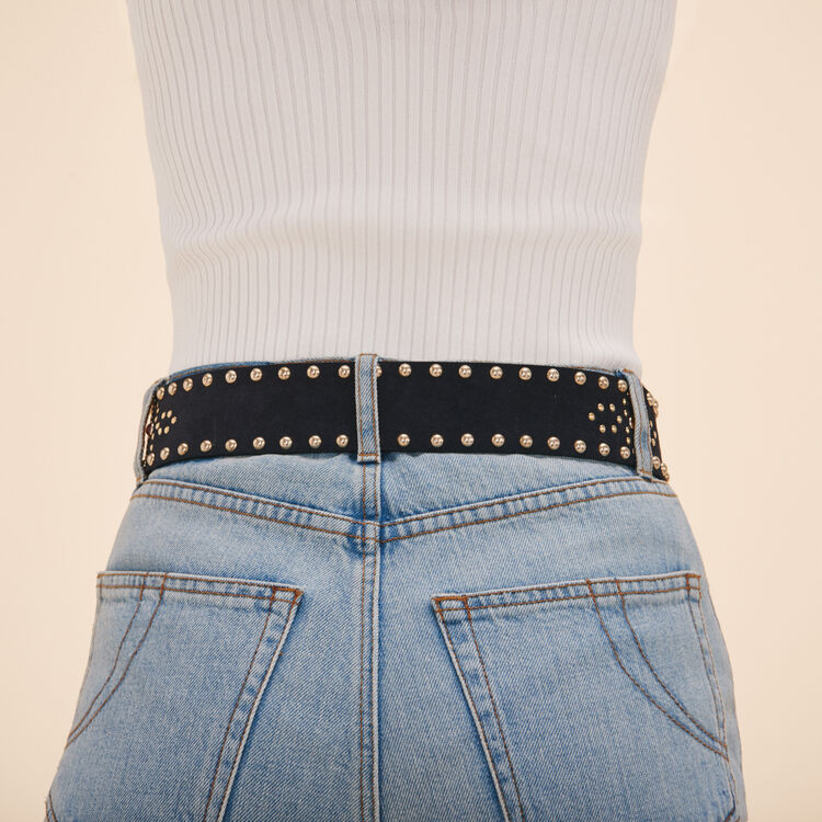 Wide belt with studs - Shoes & Accessories - MAJE