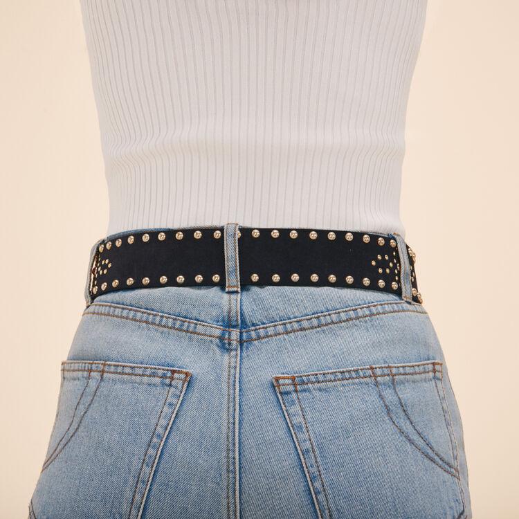 Wide belt with studs - Belts - MAJE