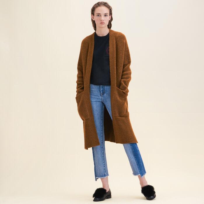 Long oversized cardigan - Sweaters - MAJE