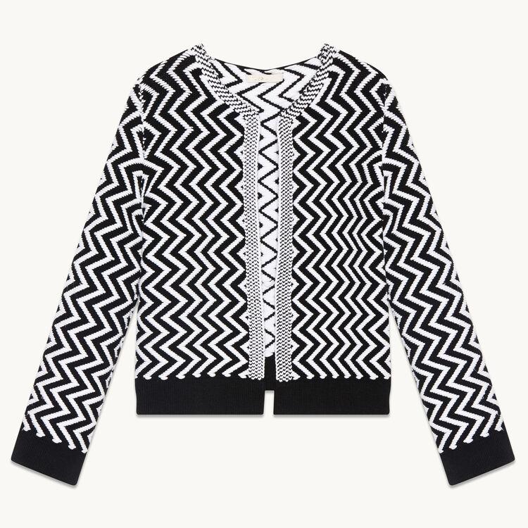 Short fine knit cardigan - Knitwear - MAJE