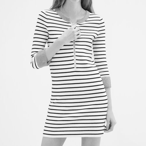 Breton knitted dress - Dresses - MAJE