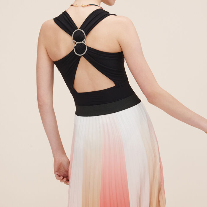 Sleeveless bodysuit with back detail -  - MAJE