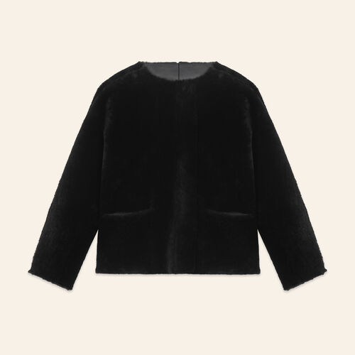 Reversible sheepskin jacket - Coats - MAJE