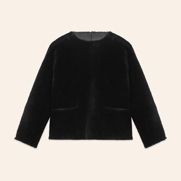Blouson réversible en peau lainée - Manteaux - MAJE