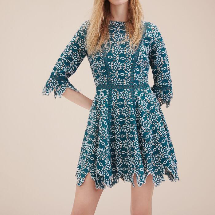 Vestido corto de guipur -  - MAJE