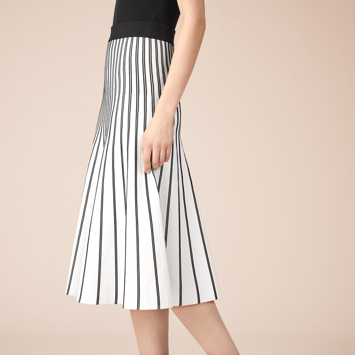 Striped knit midi skirt -  - MAJE