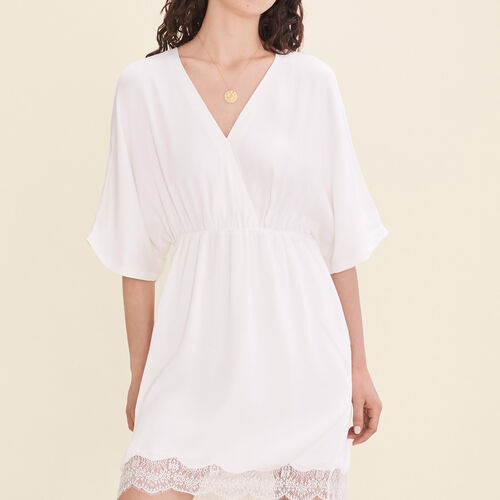 Floaty crêpe dress - Dresses - MAJE