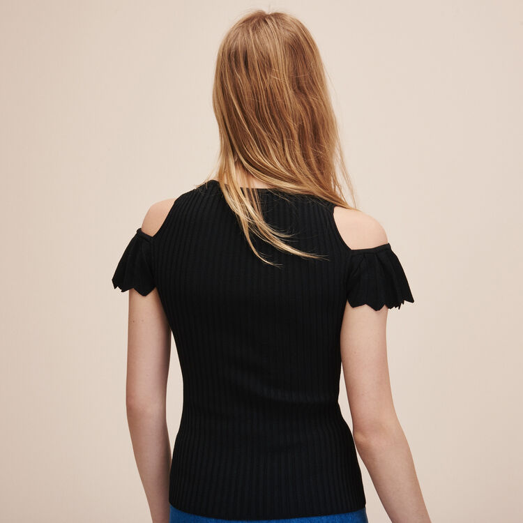 Stretch knit jumper - Sweaters - MAJE