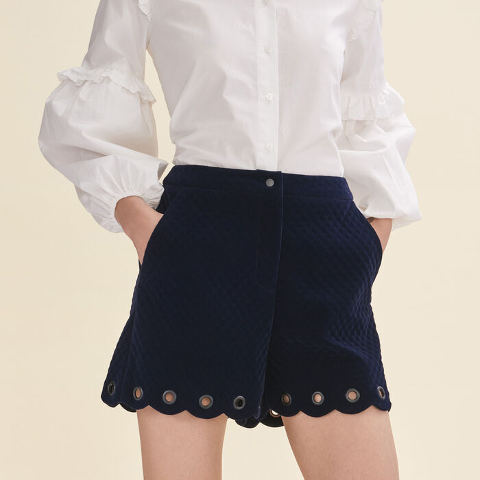Quilted suede shorts - Skirts & Shorts - MAJE