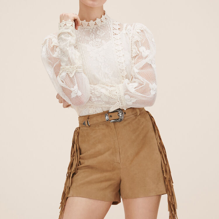 Short en suede - Jupes & Shorts - MAJE