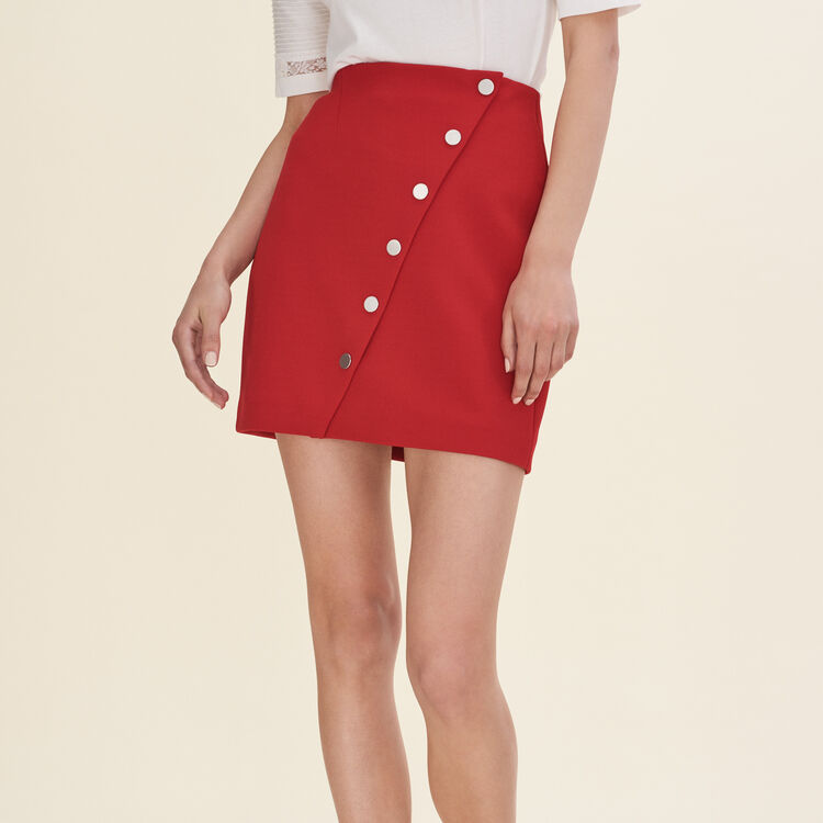 Jupe courte avec pression - Jupes & Shorts - MAJE
