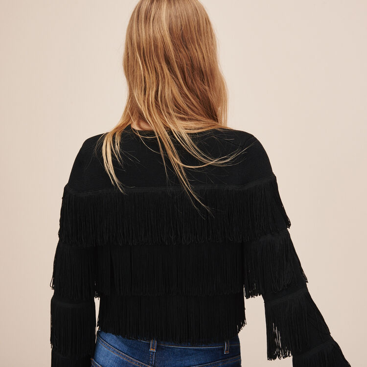Fringed cardigan - Sweaters - MAJE