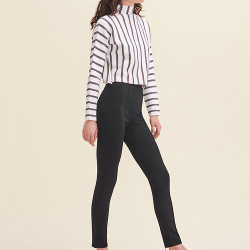 Leggings with stirrups - Trousers - MAJE