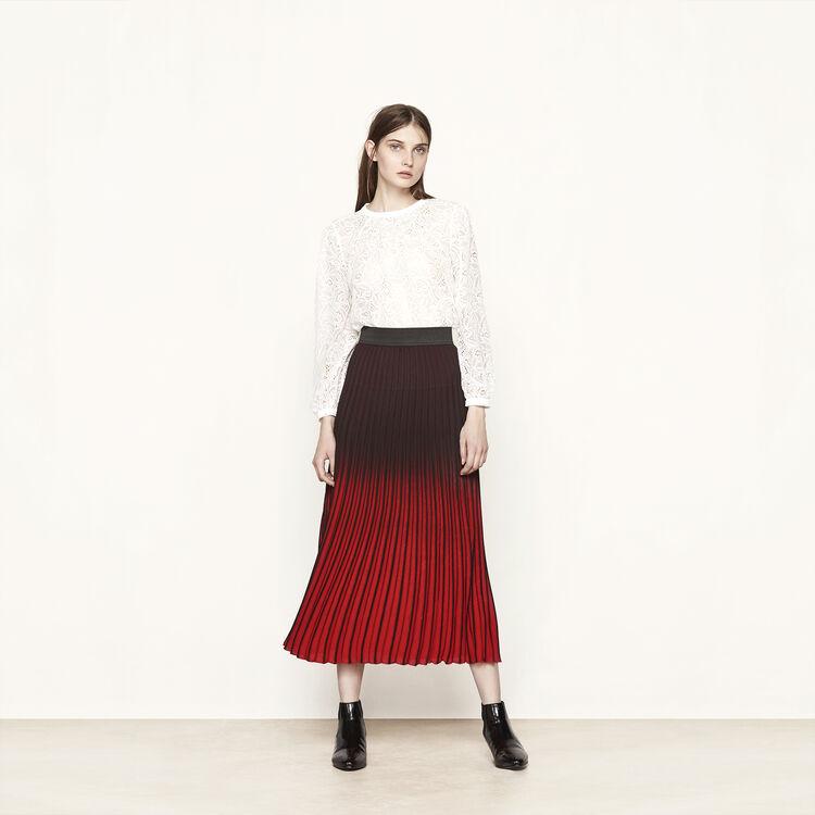 Jupe longue plissée à effet tie and dye - Jupes & Shorts - MAJE