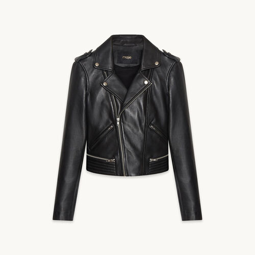 Leather jacket - Coats & Jackets - MAJE