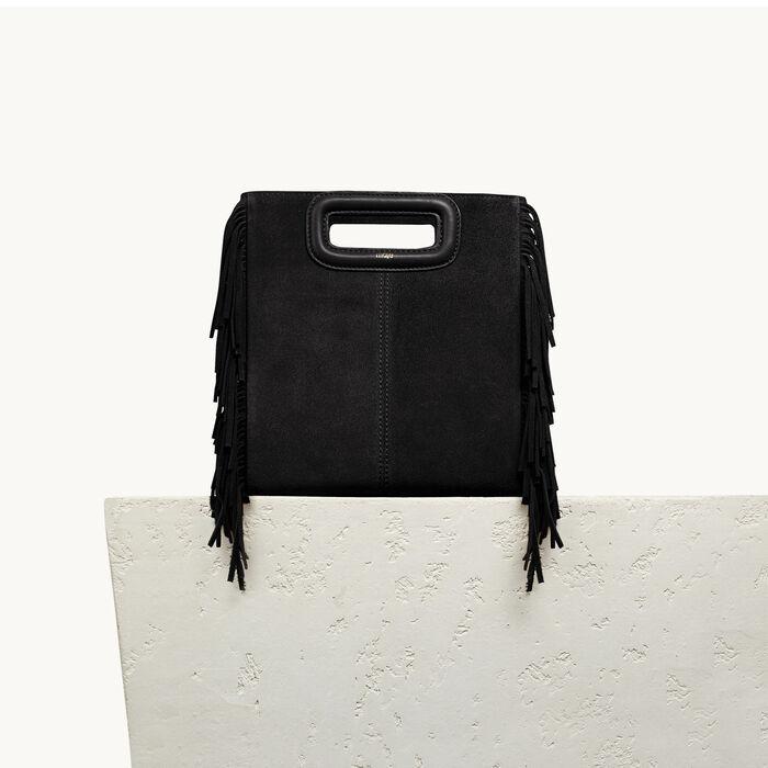 M Tasche aus Veloursleder - M Tasche - MAJE