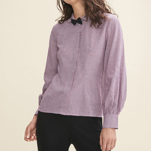 Micro-checked shirt - Tops & T-Shirts - MAJE