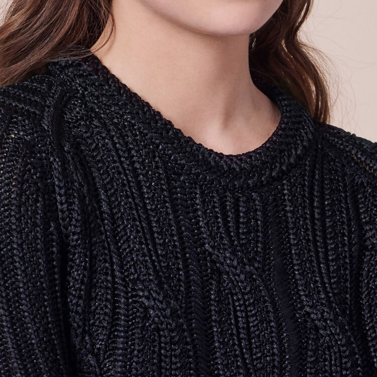 Ribbed knit jumper - Knitwear - MAJE