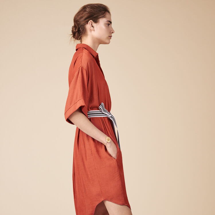 Floaty shirt dress -  - MAJE
