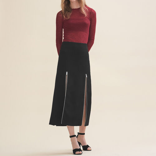 Long crepe skirt - Röcke & Shorts - MAJE