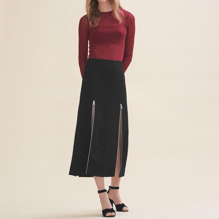 Jupe longue en crêpe - Jupes & Shorts - MAJE