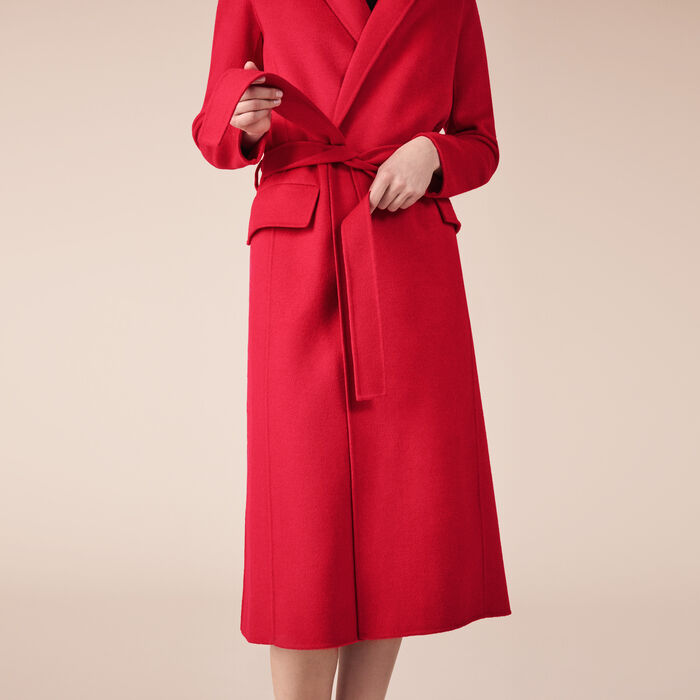 Wool-blend coat - Coats - MAJE