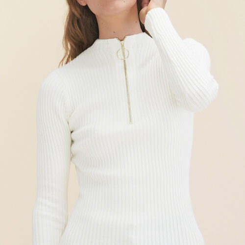 Pullover sottile in maglia stretch. - Maglieria - MAJE