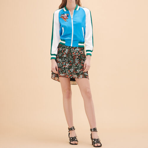 Two-tone varsity jacket - Jackets & Bombers - MAJE