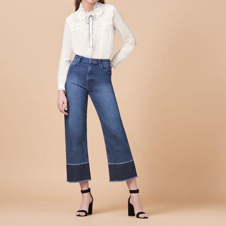 Jean large avec franges - Jeans - MAJE