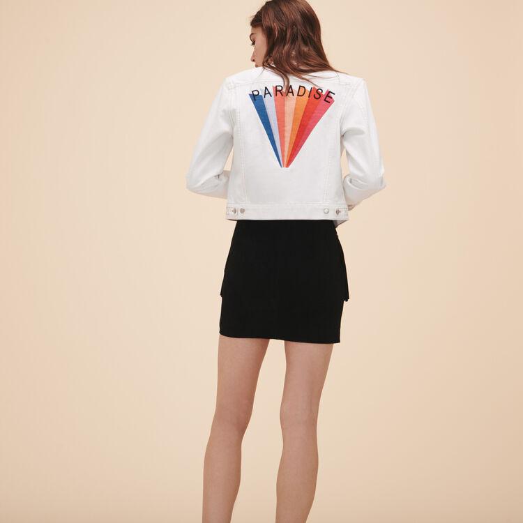 Embroidered denim jacket - Blazers - MAJE