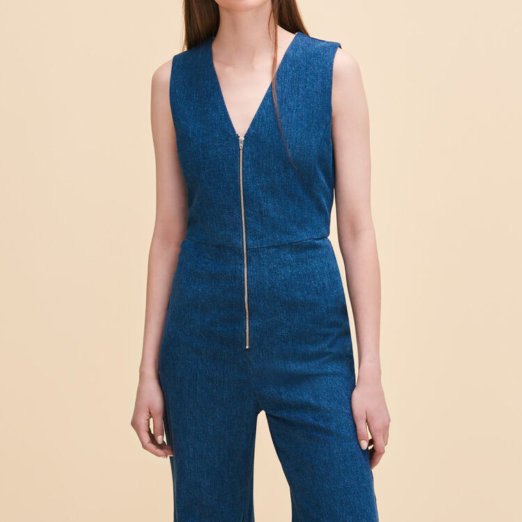 Sleeveless jumpsuit - Jeans - MAJE