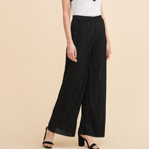 Reversible pleated trousers - Pants & Jeans - MAJE