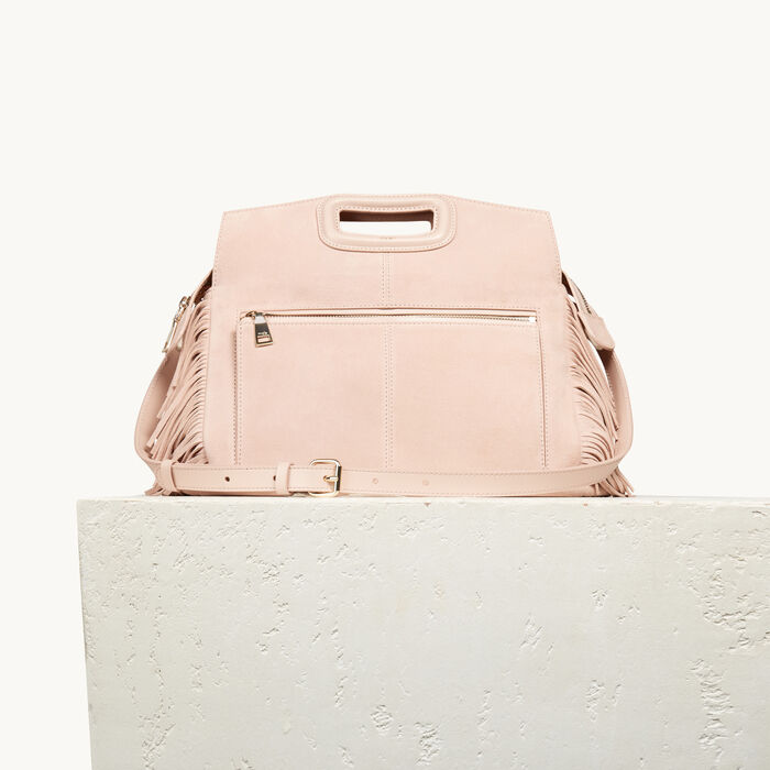 Suede M Walk bag - Rose - MAJE