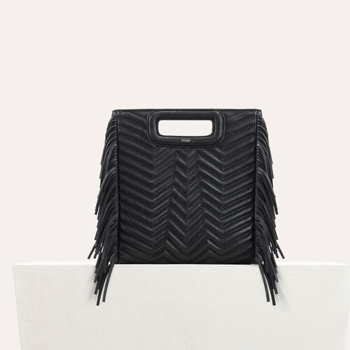 Quilted leather M bag - M Bags - MAJE