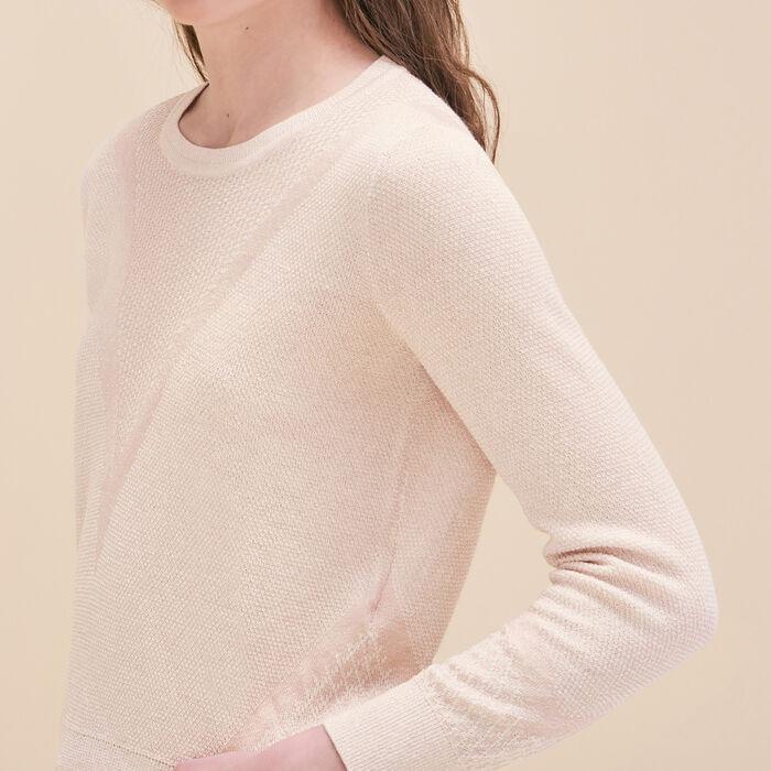 Fine knit jumper with lurex -  - MAJE