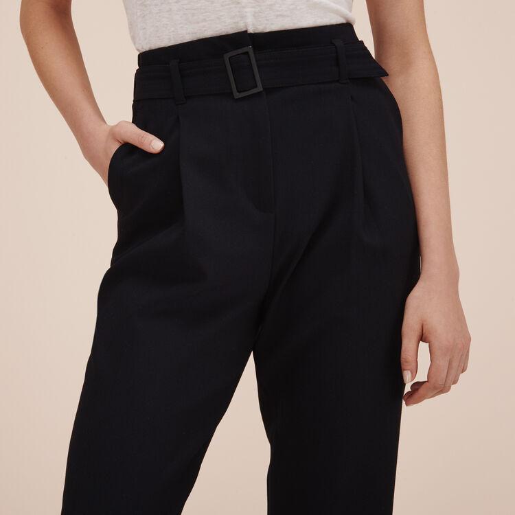 Crêpe 7/8-length trousers - Pants & Jeans - MAJE