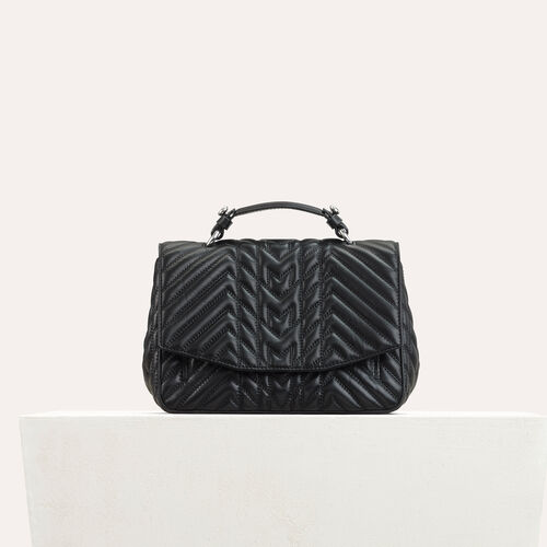 Mini satchel in quilted leather - Shoulder bag - MAJE