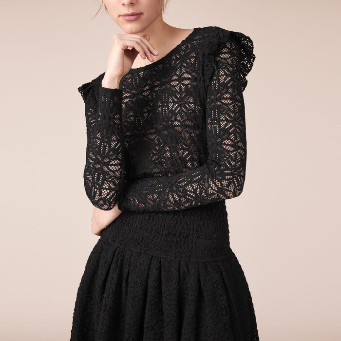 Short lace dress -  - MAJE