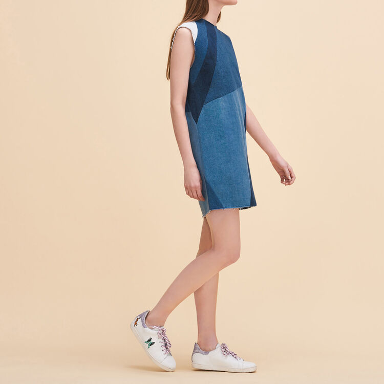 Denim three-hole dress - Dresses - MAJE