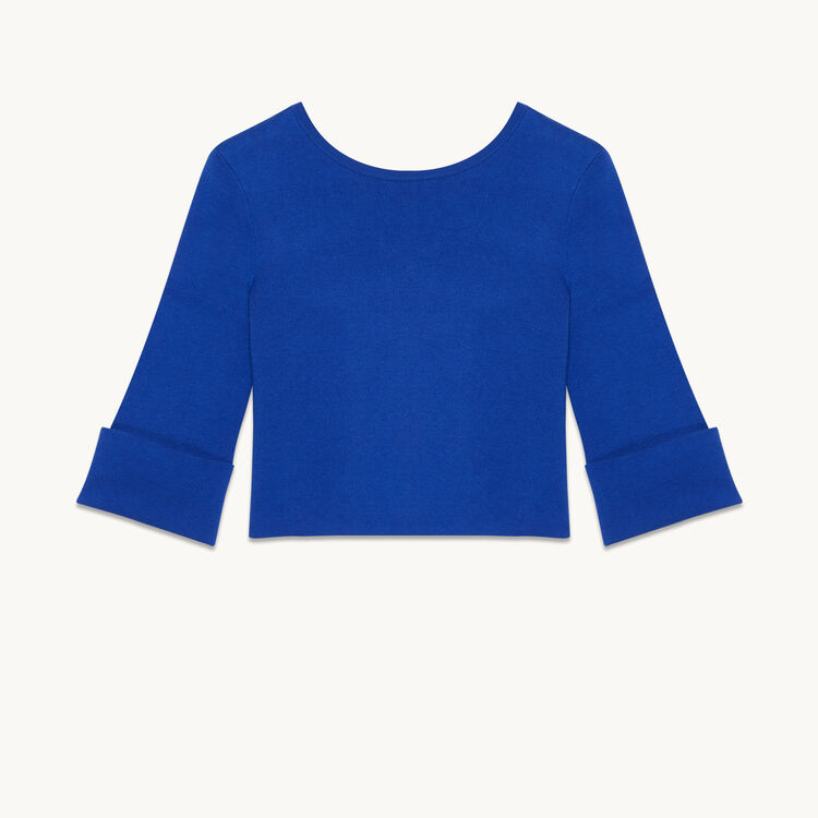 Cropped jumper in run-resistant knit - Knitwear - MAJE